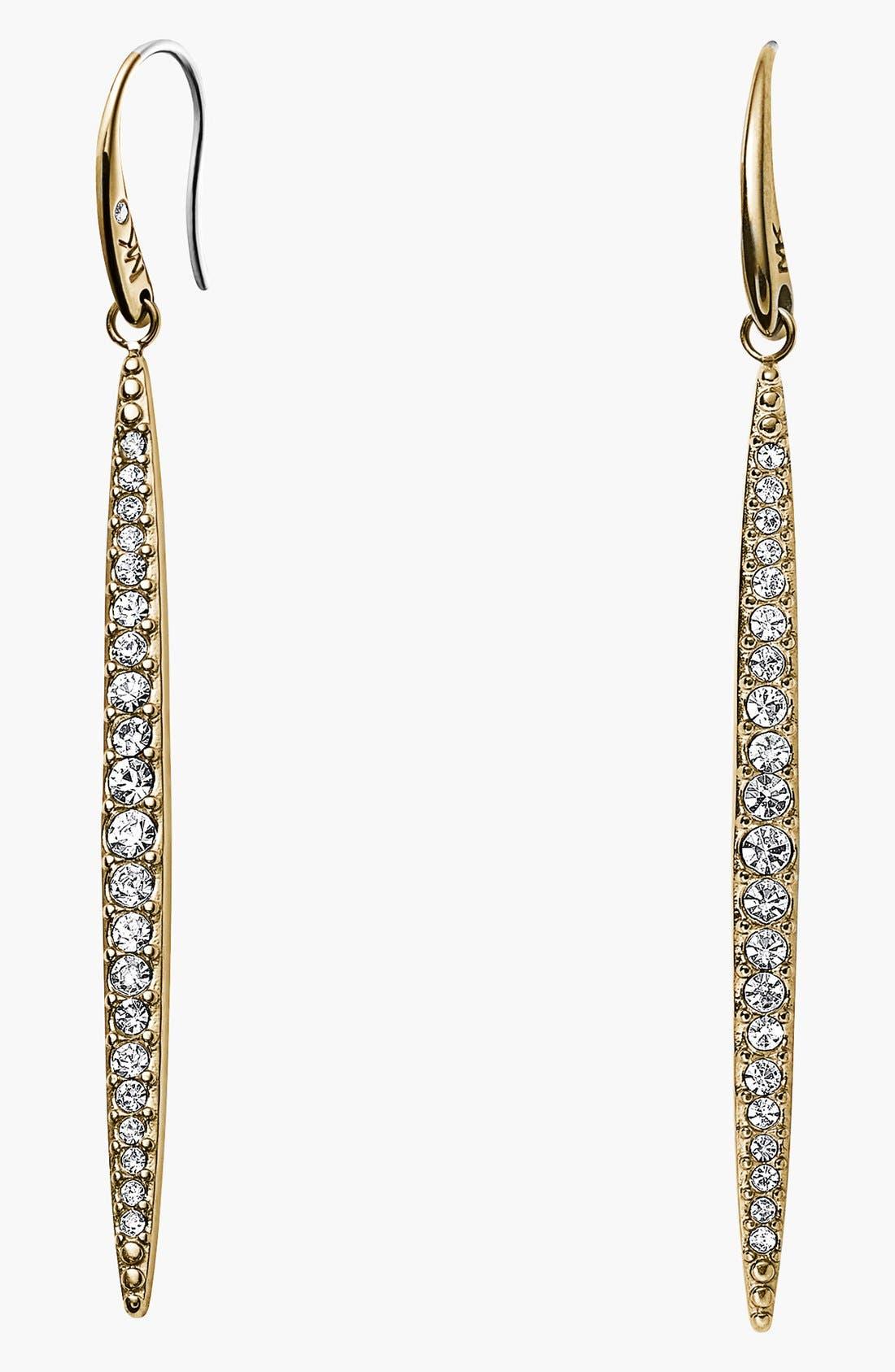 Main Image - Michael Kors 'Matchstick' Pavé Linear Earrings