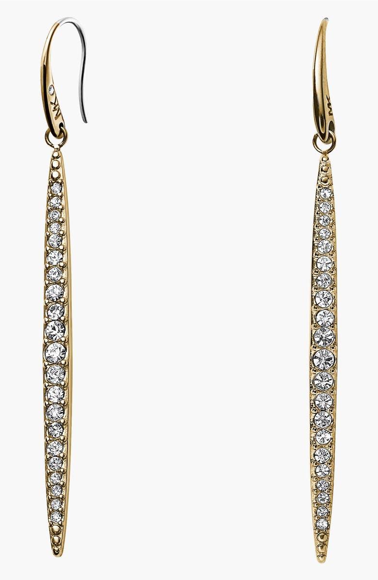Michael Kors Matchstick Pavé Linear Earrings