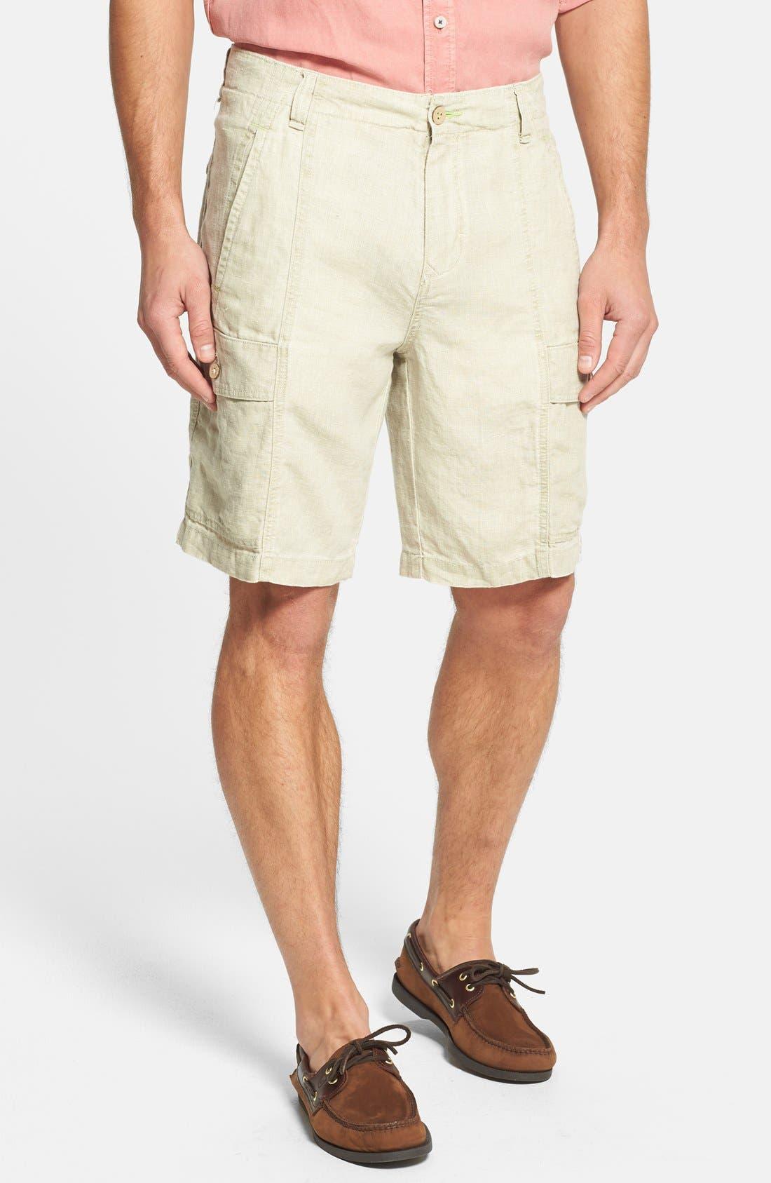 Alternate Image 1 Selected - Tommy Bahama 'Summerland Keys' Linen Cargo Shorts