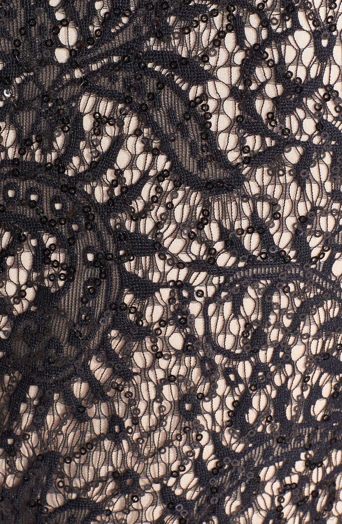 Alternate Image 4  - Xscape Embellished Lace Detail Jersey Sheath Dress