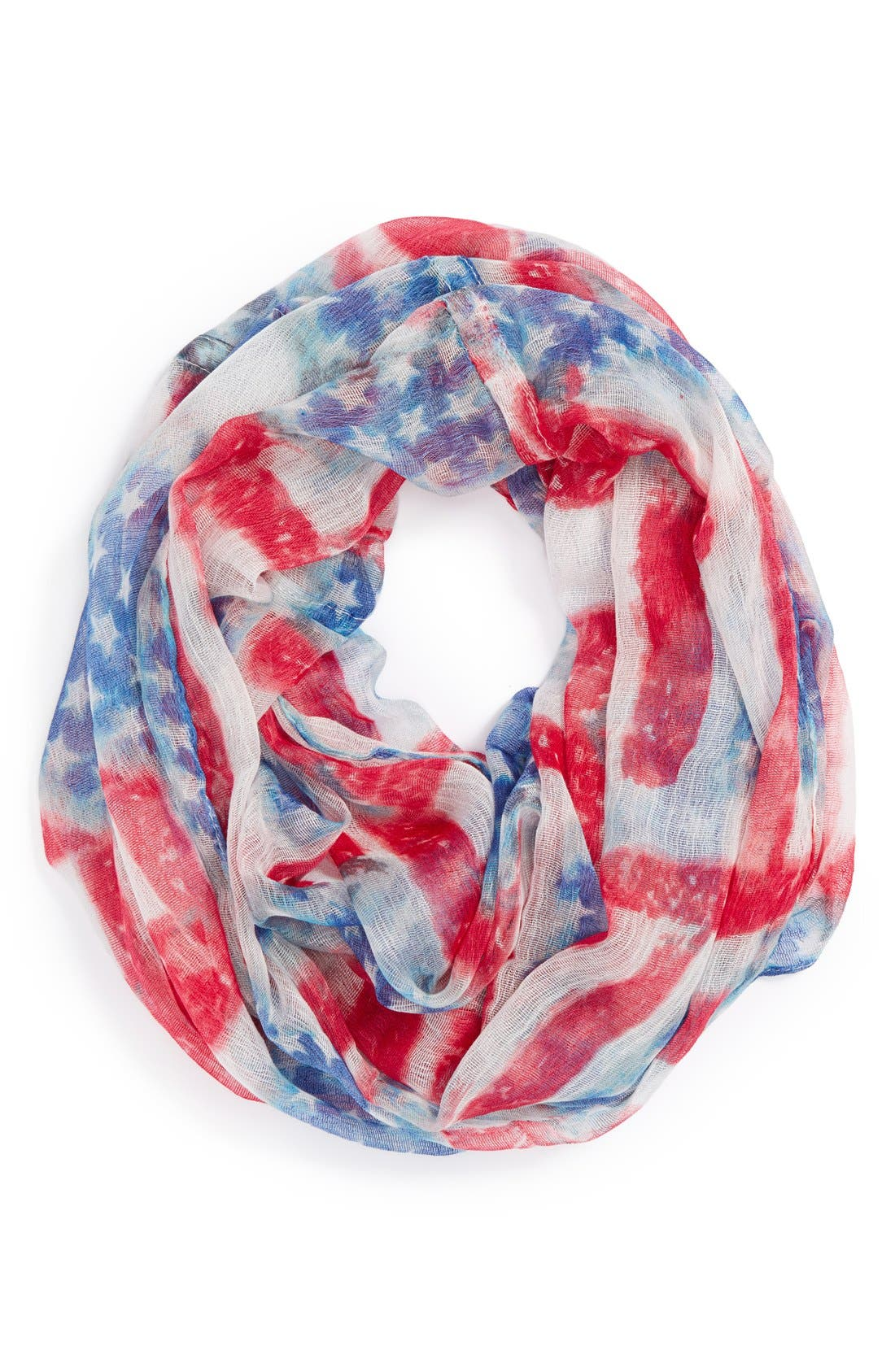 'Stars & Stripes' Infinity Scarf,                         Main,                         color, Red/ White/ Blue