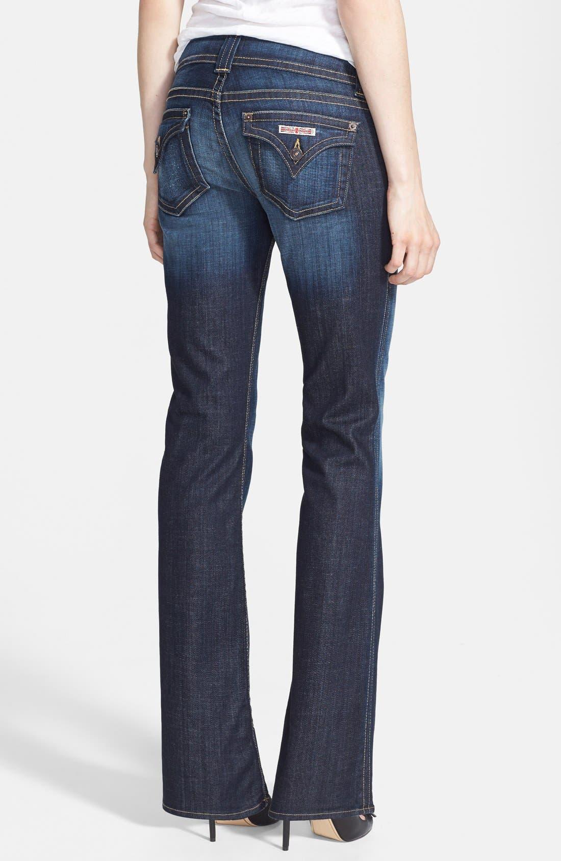 Alternate Image 2  - Hudson Jeans Signature Bootcut Stretch Jeans (Elm) (Petite)
