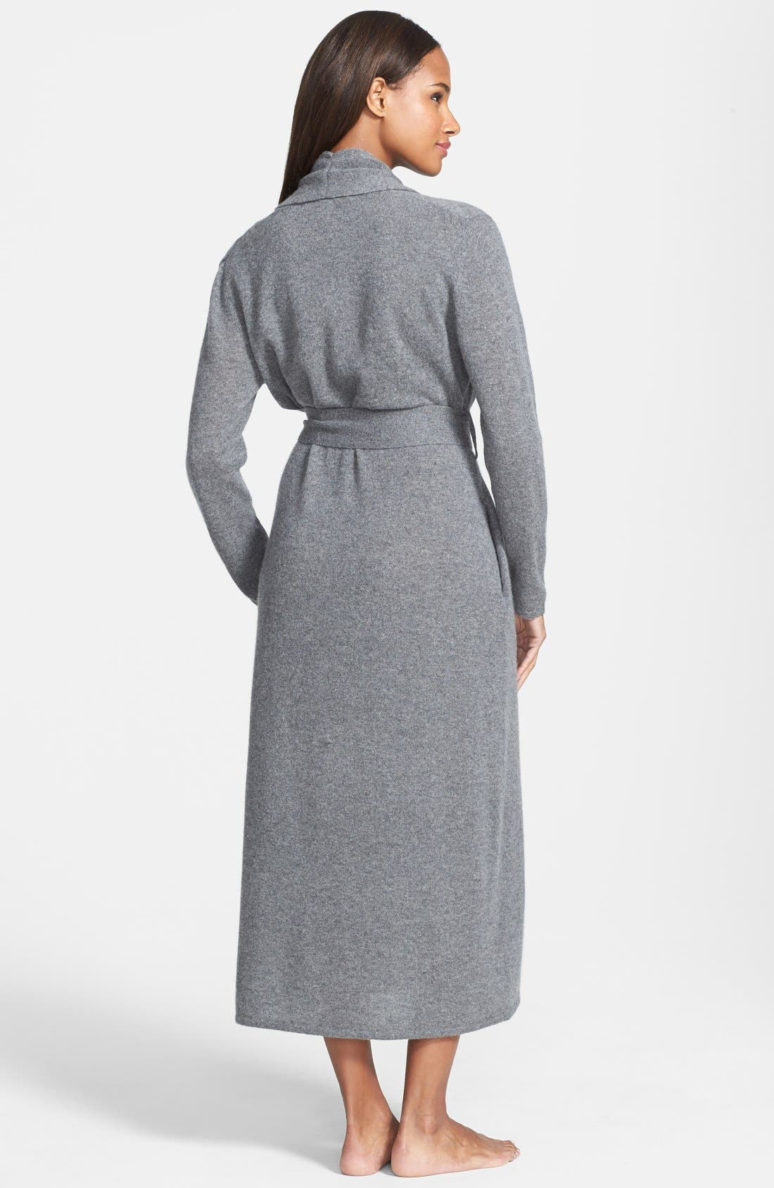 Alternate Image 2  - Nordstrom Collection Cashmere Robe (Online Only)