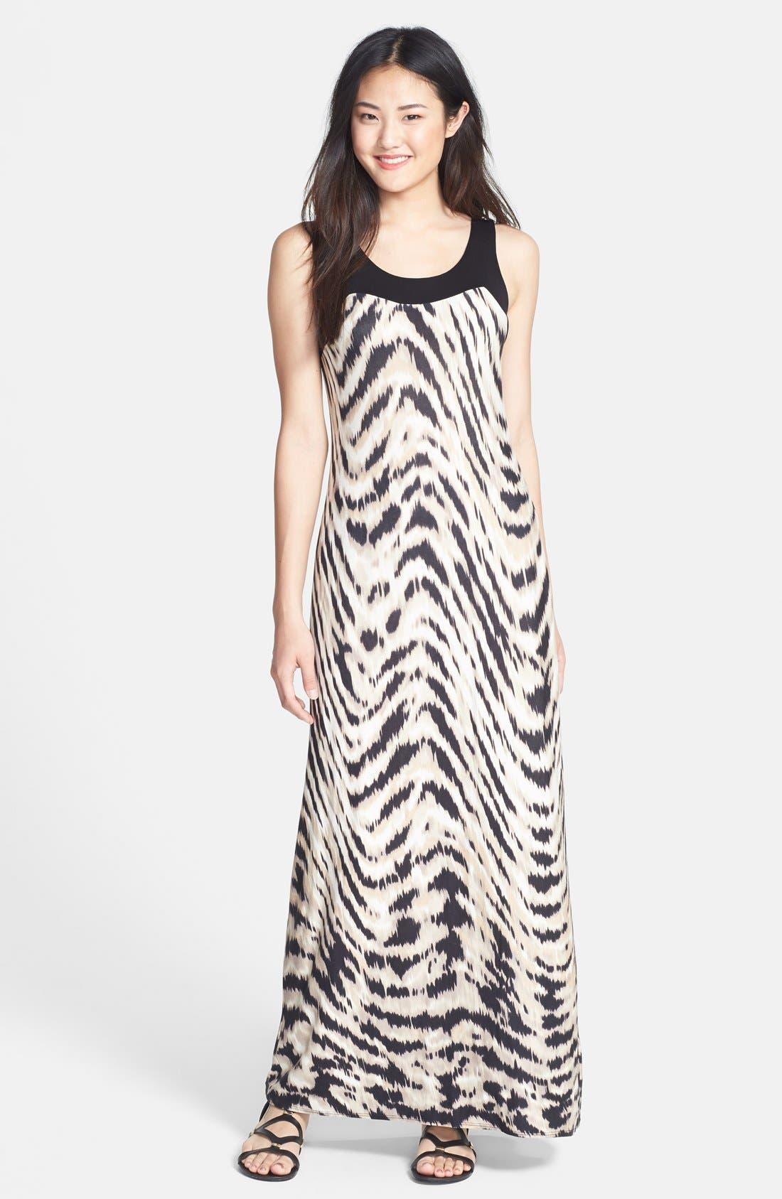 Alternate Image 1 Selected - wallis Swirled Animal Print Maxi Dress