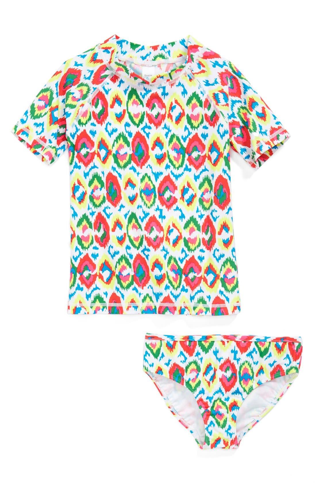 Alternate Image 1 Selected - Tucker + Tate Rashguard Shirt & Bottoms (Toddler Girls)
