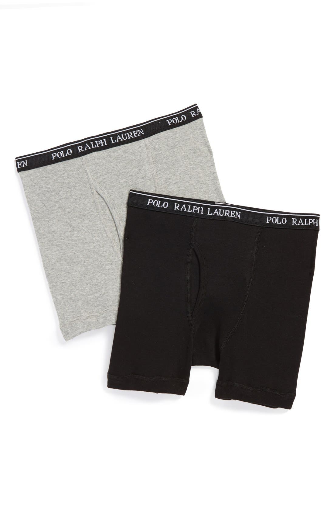 2-Pack Boxer Briefs,                             Main thumbnail 1, color,                             Black/ Grey