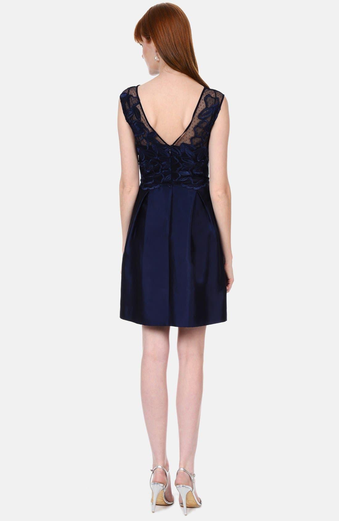 Alternate Image 2  - Kay Unger Lace Bodice Dress