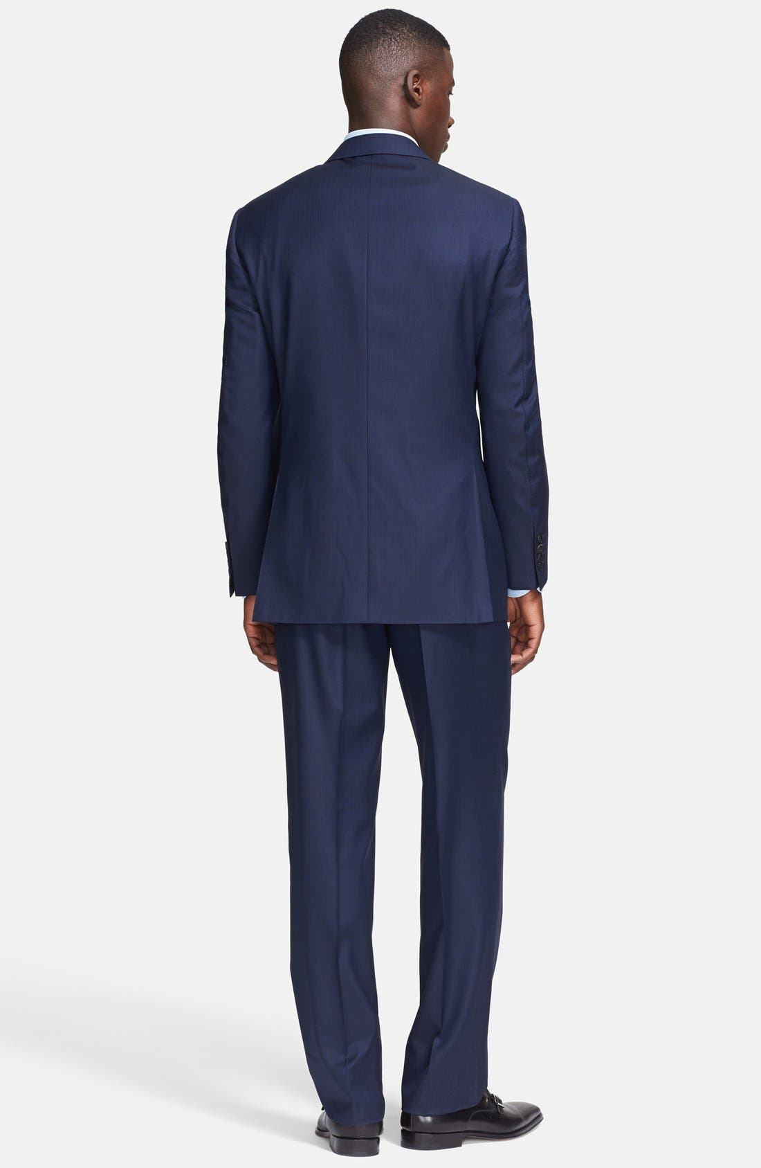 Alternate Image 2  - Canali Classic Fit Wool Suit