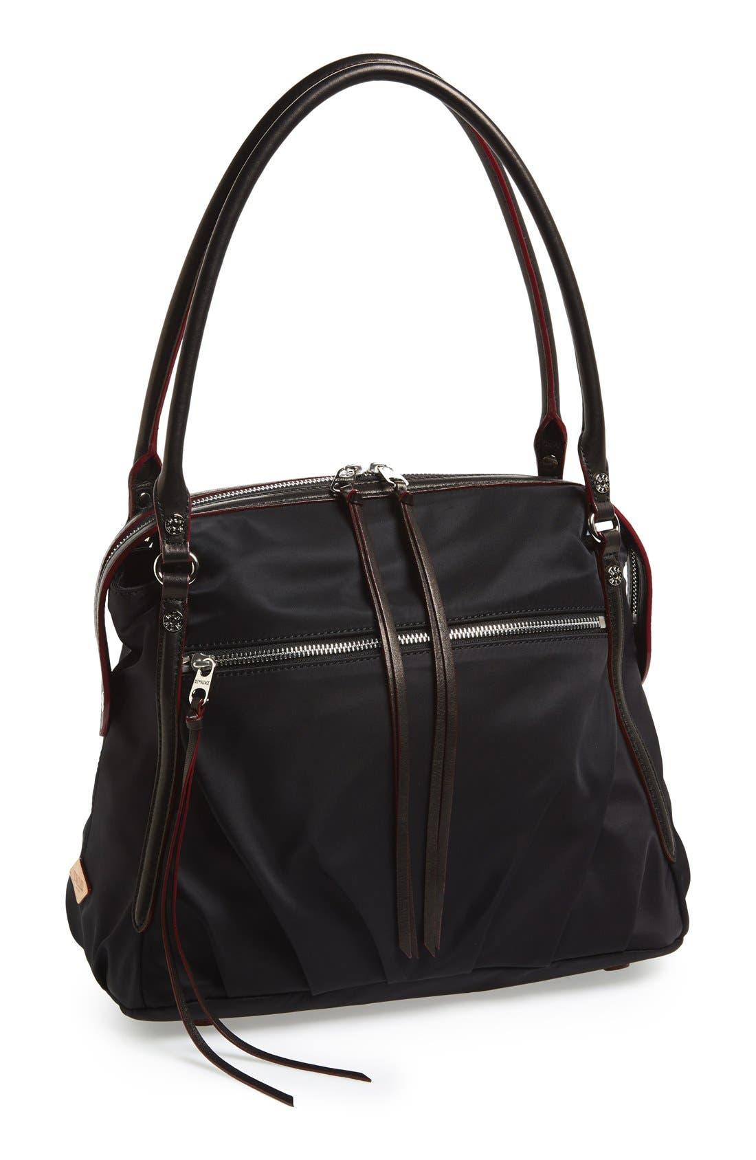 Alternate Image 1 Selected - MZ Wallace 'Moto Georgie' Bedford Nylon Shoulder Bag