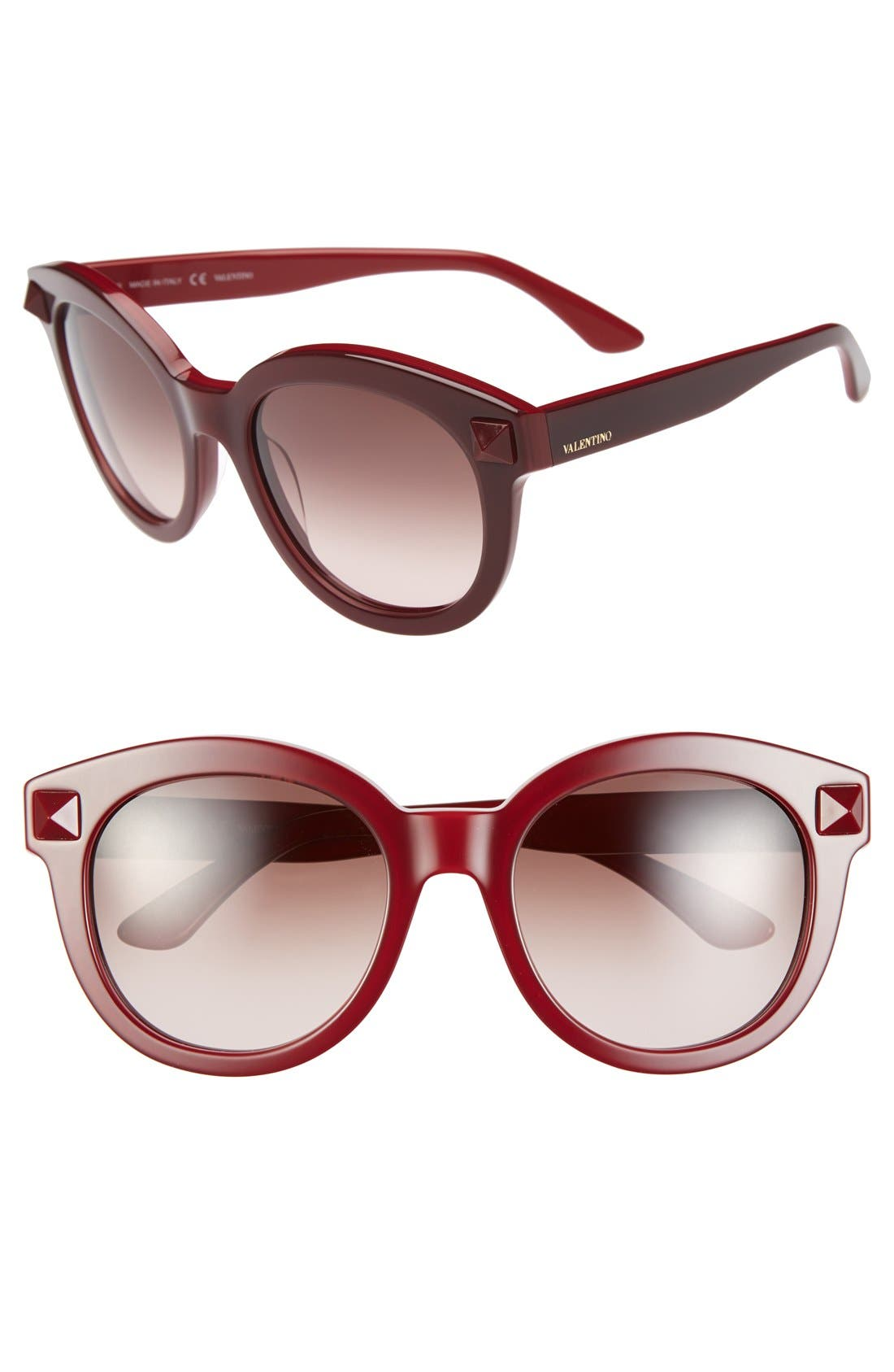 Main Image - Valentino 'Rockstud' 54mm Semi Oval Cat Eye Sunglasses