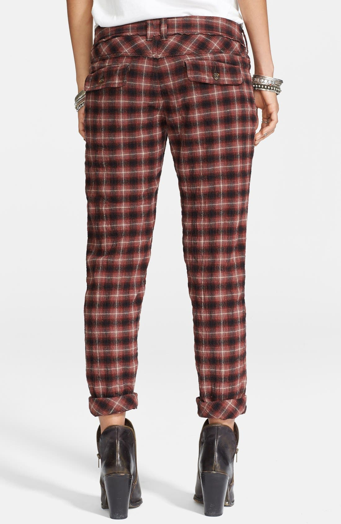 Alternate Image 2  - Free People Plaid Ankle Peg Trousers