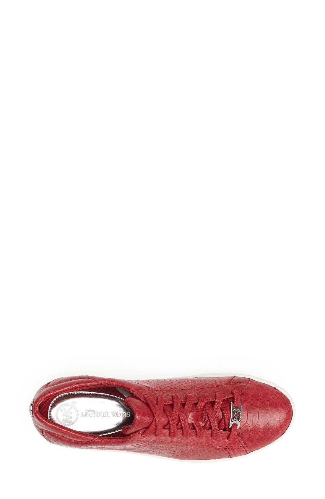 'Keaton' Sneaker,                             Alternate thumbnail 3, color,                             Scarlet