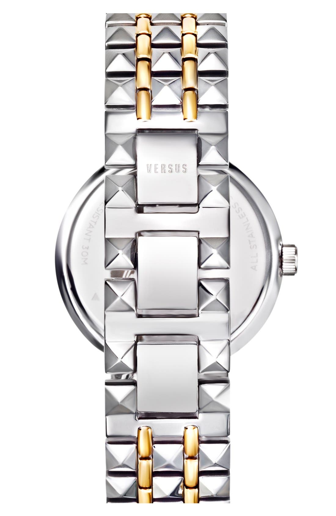 Alternate Image 2  - VERSUS by Versace 'Coral Gables' Studded Bracelet Watch, 36mm