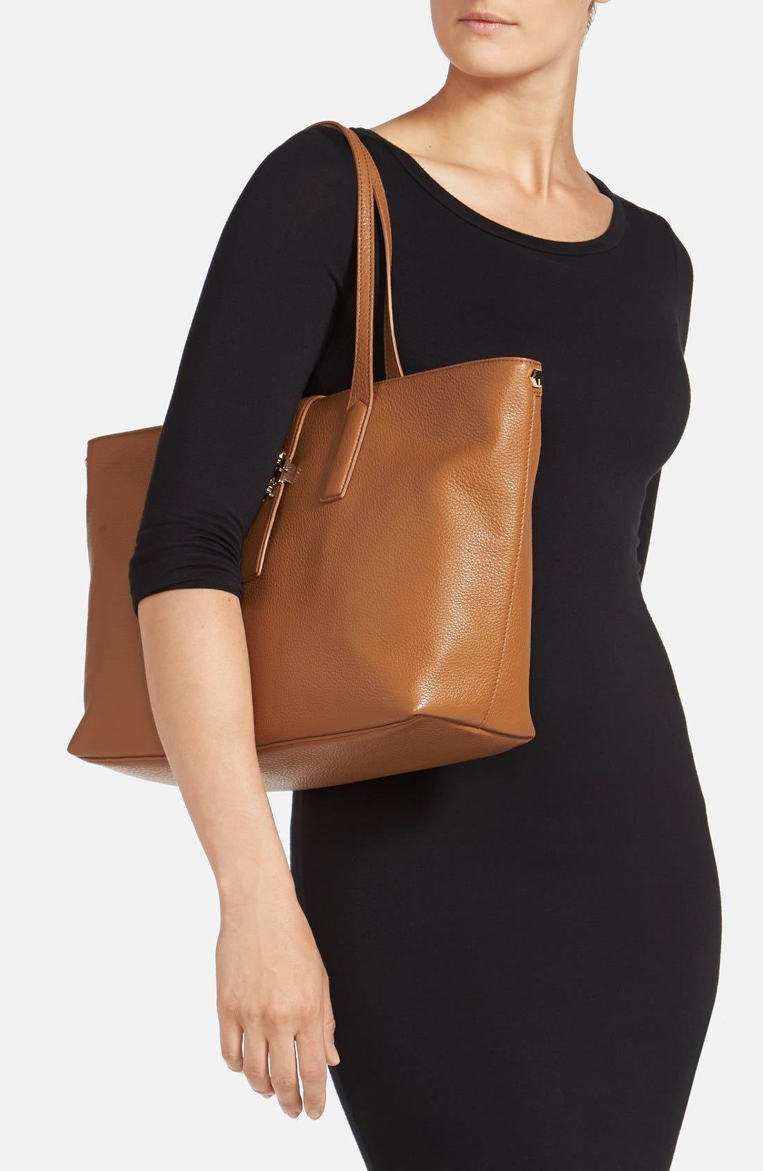 Alternate Image 2  - Tory Burch 'Plaque' Leather Tote