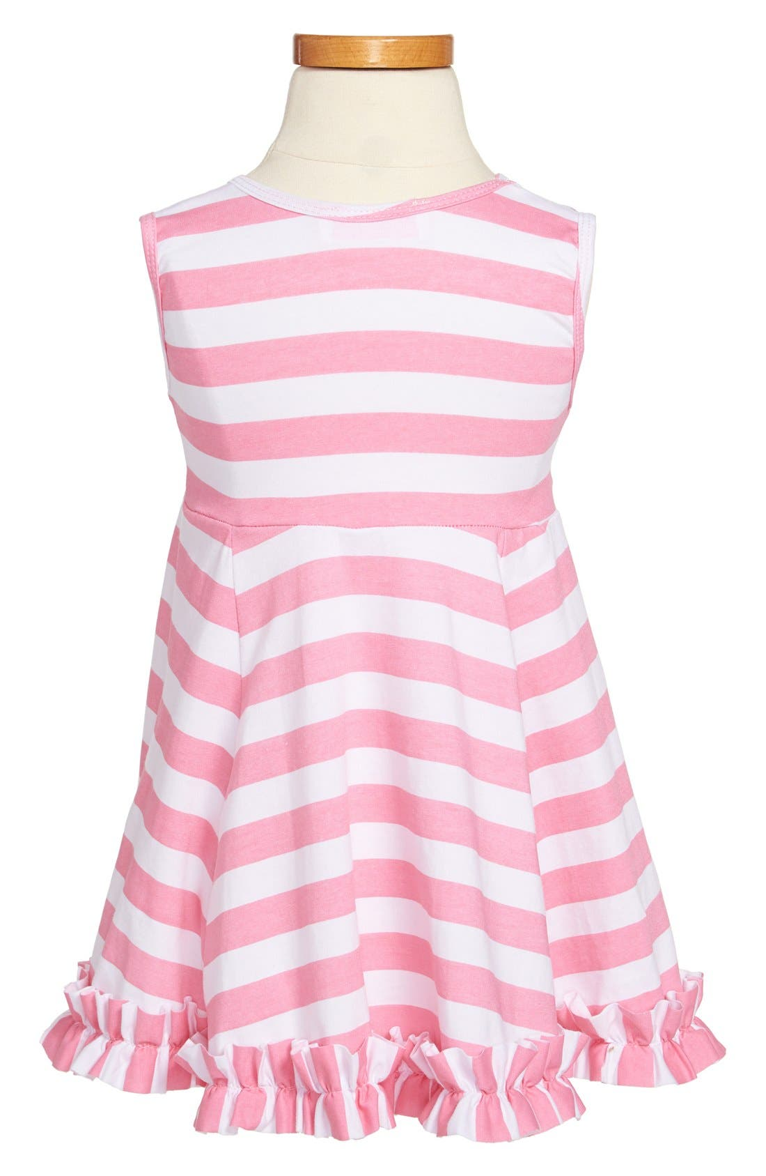 Alternate Image 2  - Popatu Stripe Tank Dress (Toddler Girls)