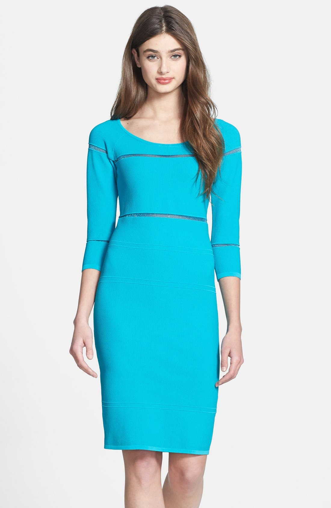 Alternate Image 1 Selected - Nicole Miller Illusion Inset Bandage Knit Dress