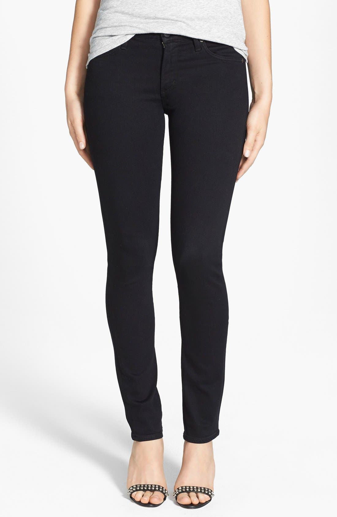 Alternate Image 1  - Citizens of Humanity 'Arielle' Mid Rise Slim Jeans (Tuxedo)