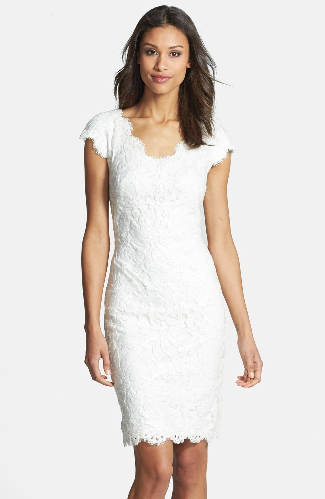 Alternate Image 1 Selected - Tadashi Shoji Lace Sheath Dress