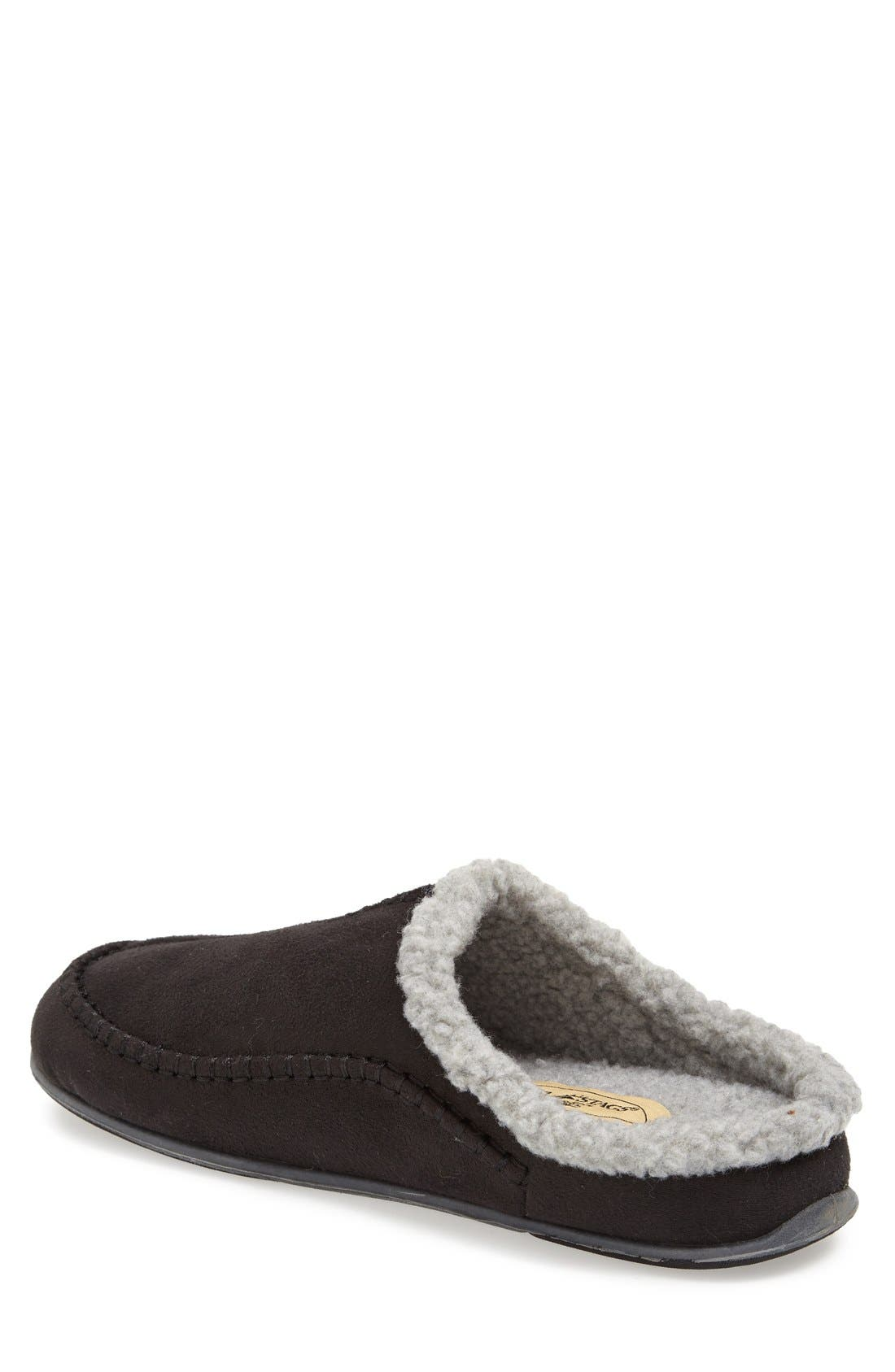 'Nordic' Slipper,                             Alternate thumbnail 2, color,                             Black