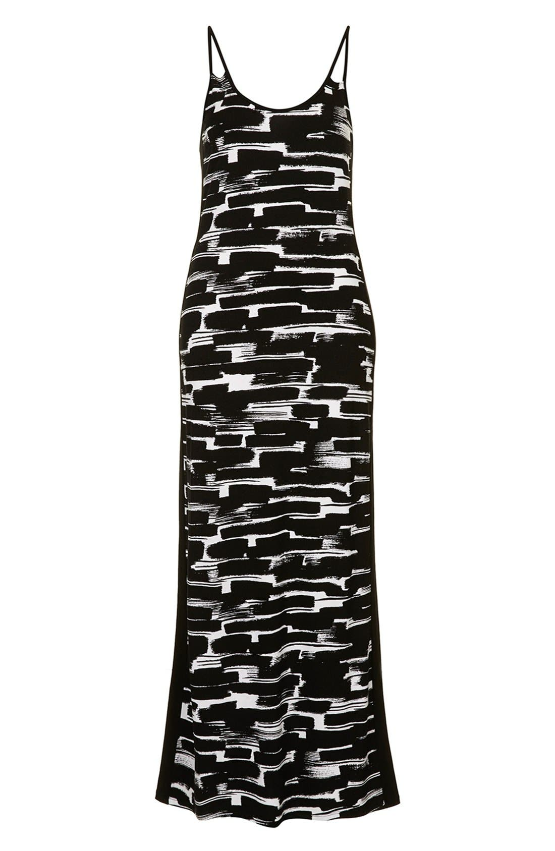 Alternate Image 3  - Topshop Print Cutout Maxi Dress