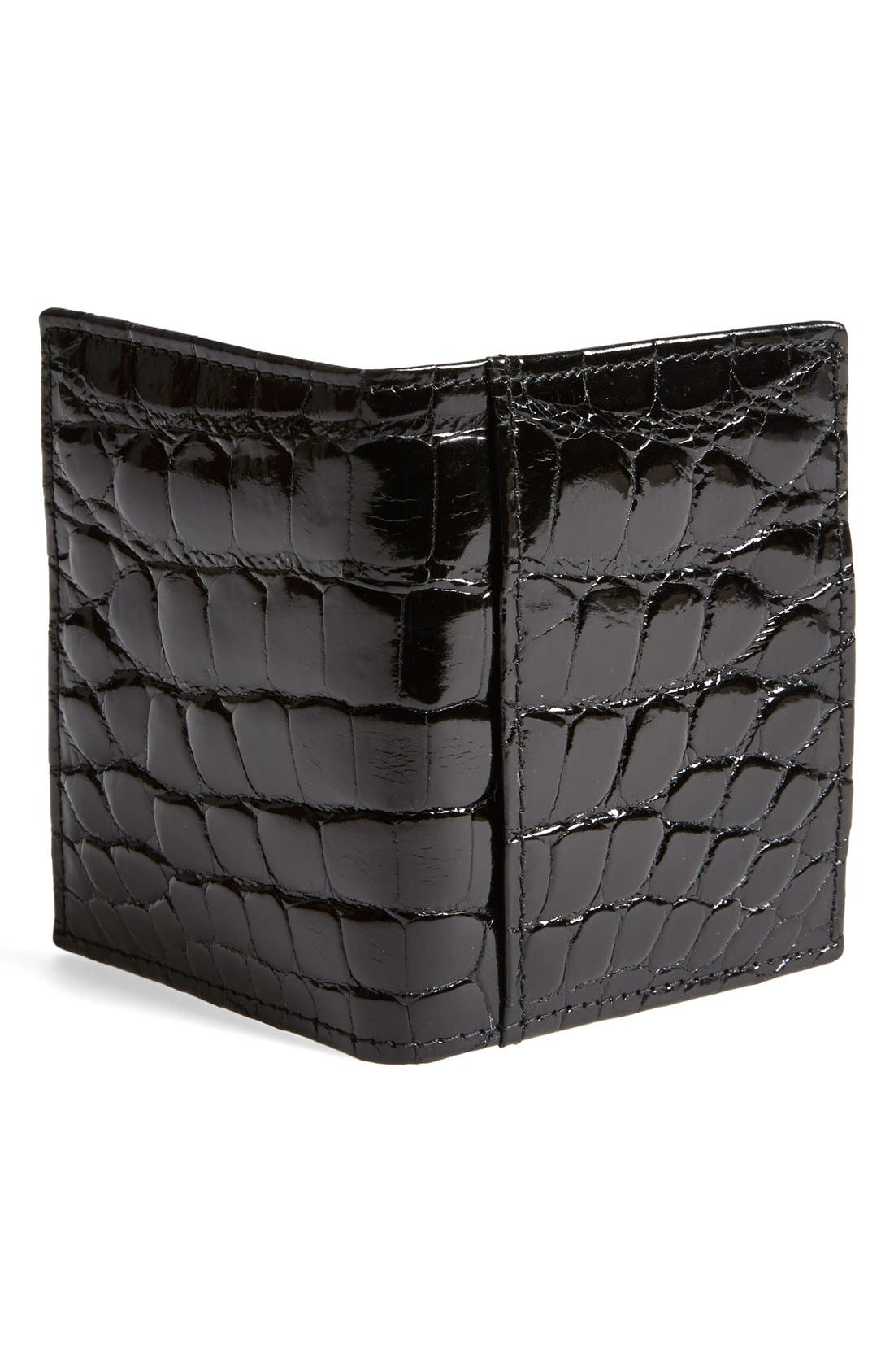 Alternate Image 3  - Martin Dingman 'Joseph' Genuine American Alligator Leather ID Wallet