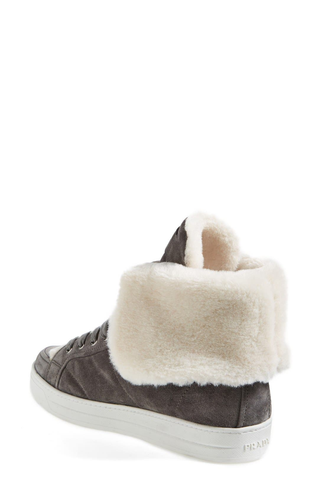 Alternate Image 2  - Prada Faux Shearling Sneaker (Women)