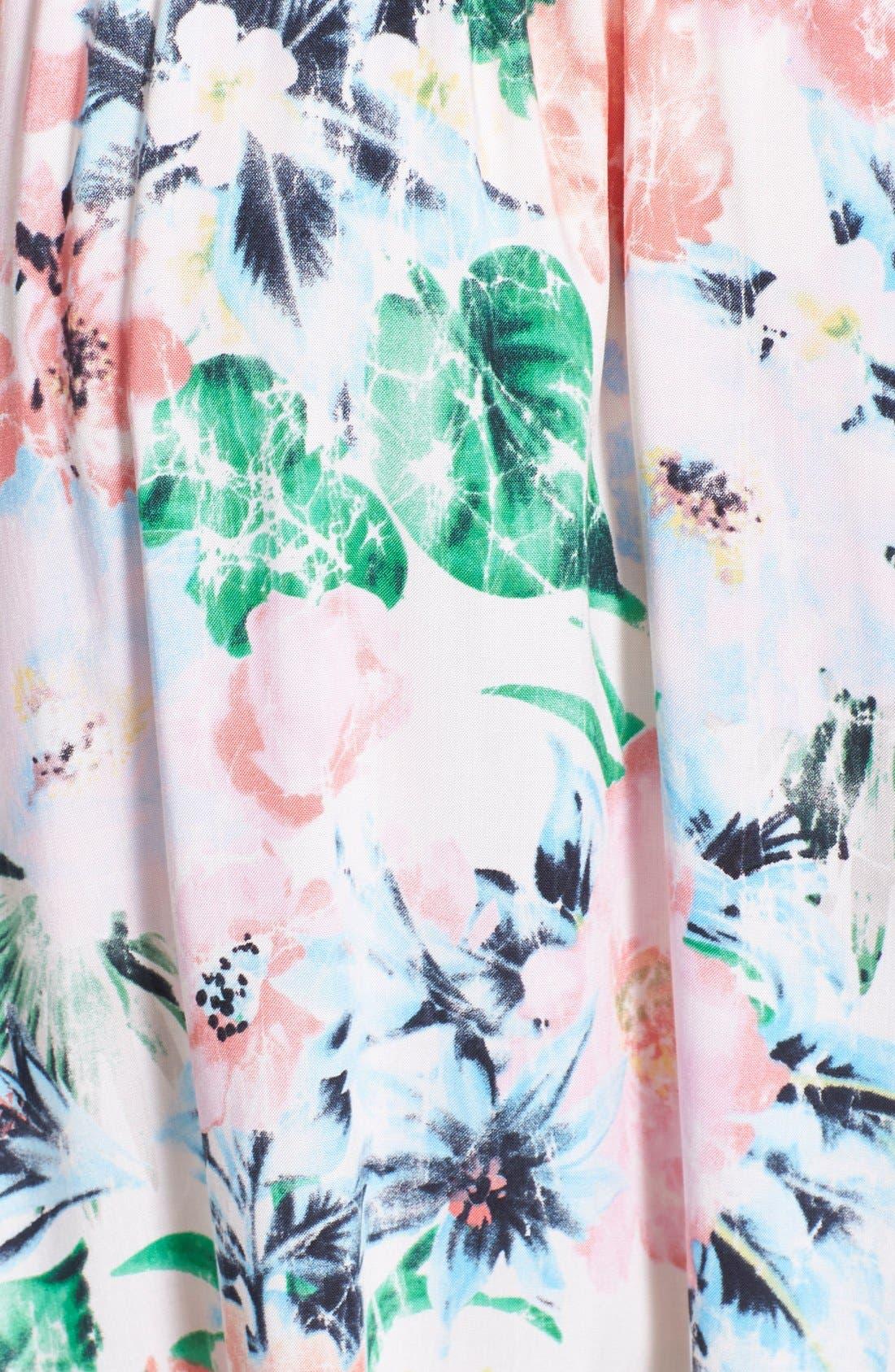 Alternate Image 3  - Tildon Floral Midi Skirt