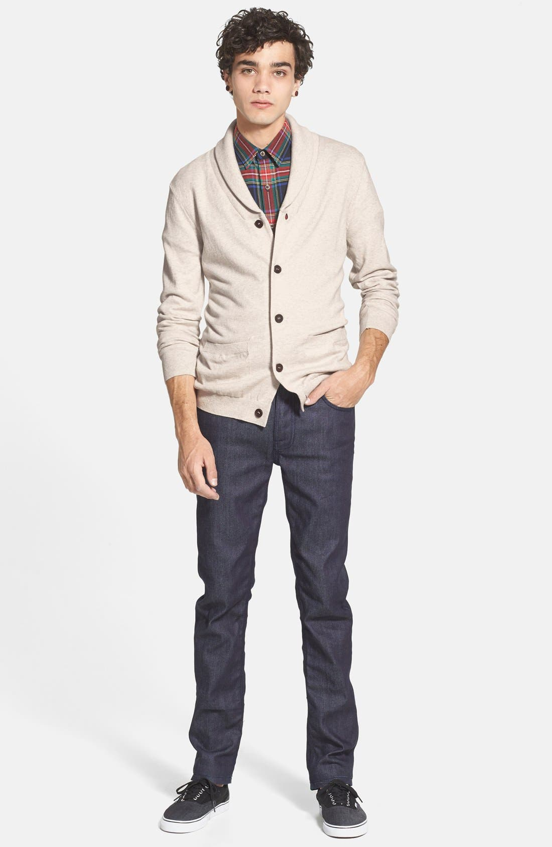 Alternate Image 4  - Topman Jersey Shawl Collar Cardigan