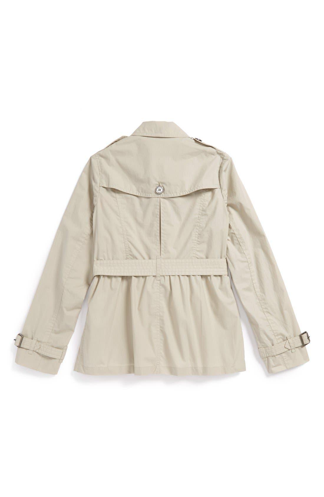 Alternate Image 2  - Burberry Trench Coat (Little Girls & Big Girls)
