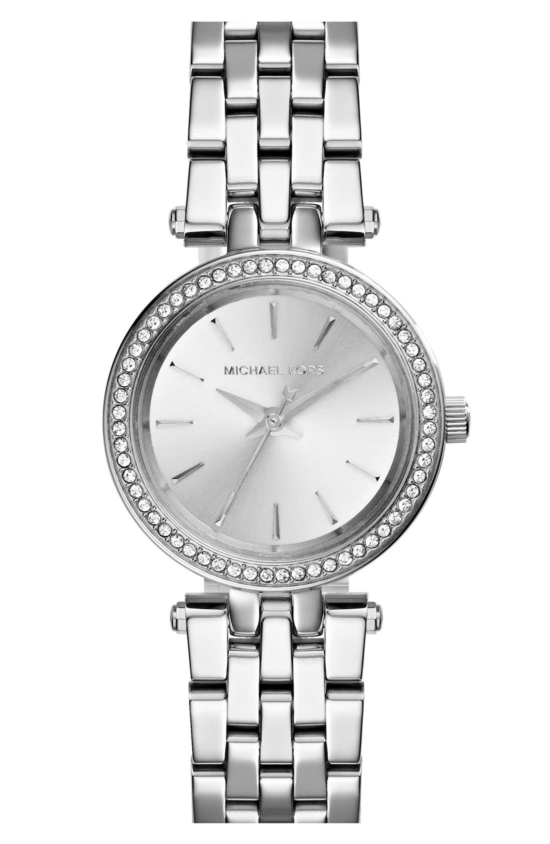 MICHAEL KORS Petite Darci Crystal Bezel Bracelet Watch, 26mm