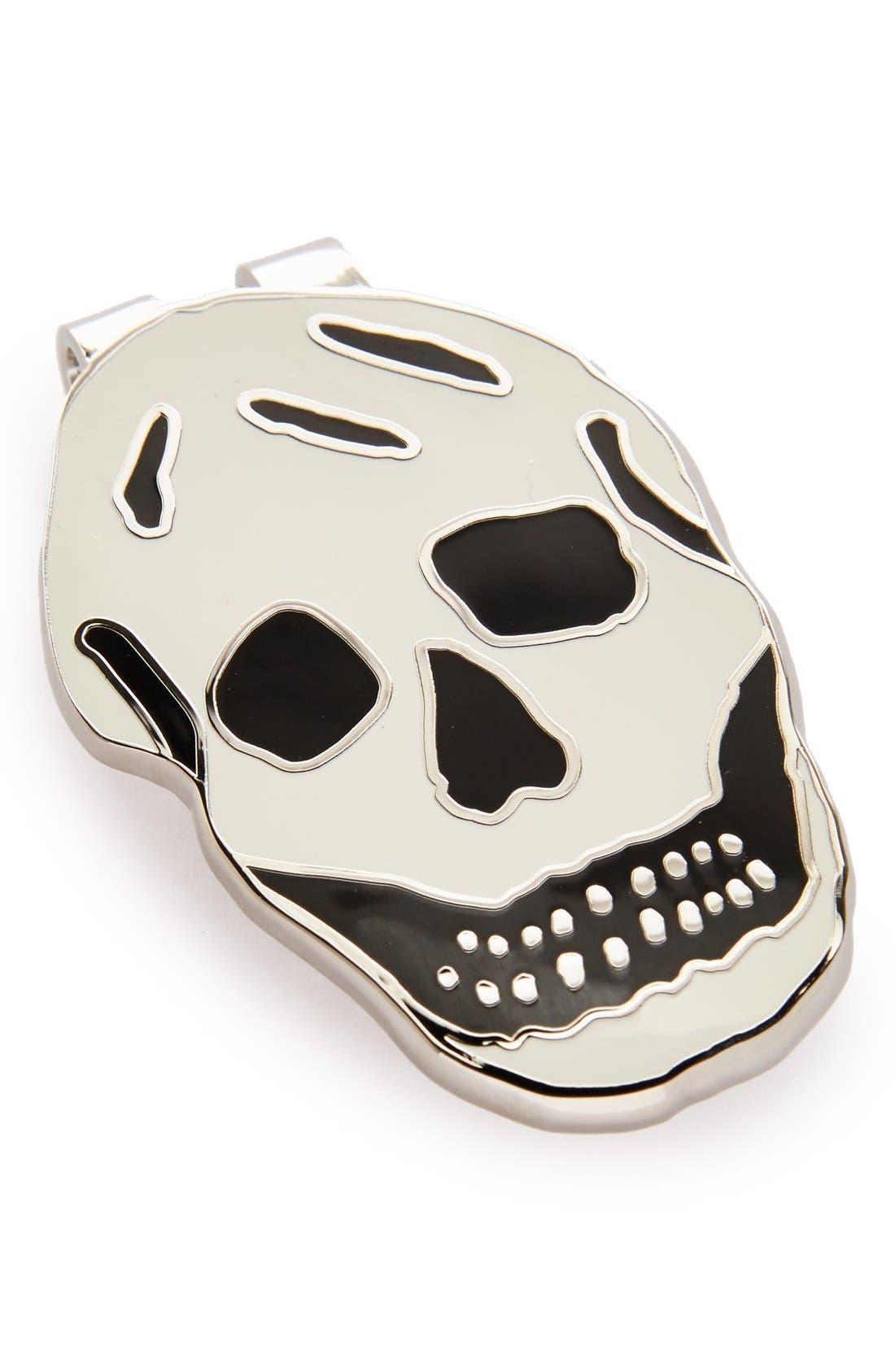 Skull Money Clip,                         Main,                         color, Black White