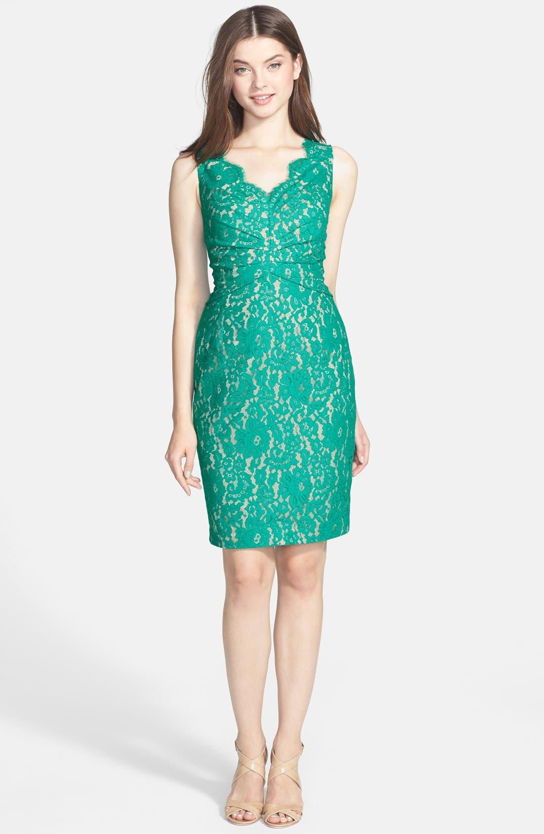 Alternate Image 3  - Eliza J Sleeveless Lace Dress