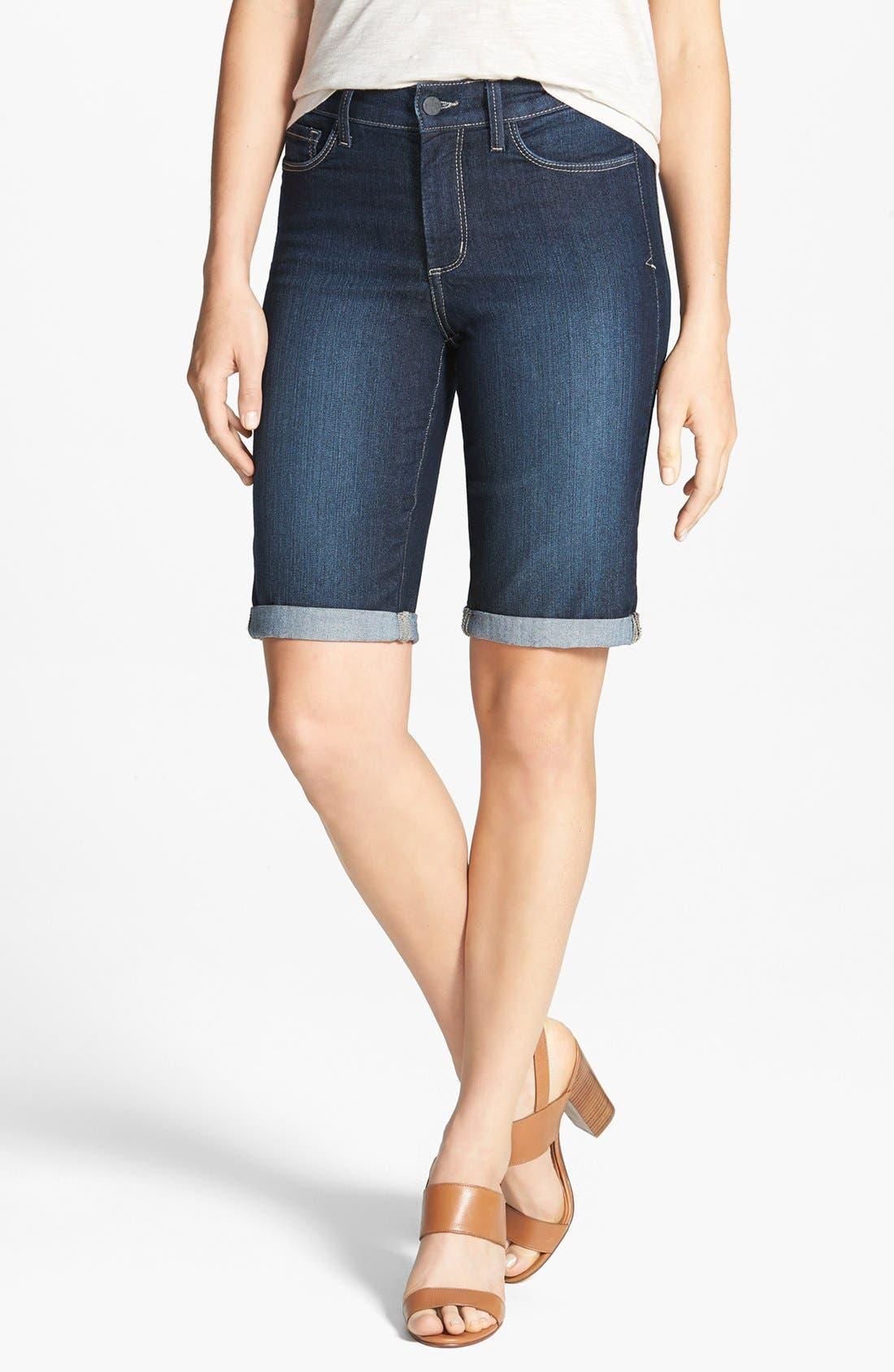 Alternate Image 1 Selected - NYDJ 'Briella' Cuff Stretch Denim Shorts (Regular & Petite)