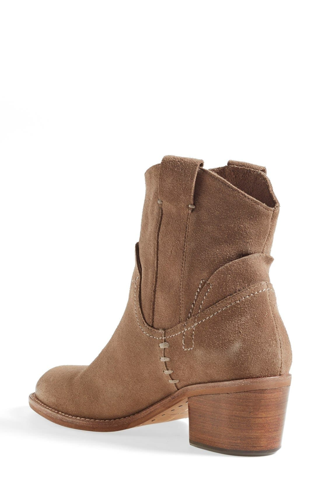 'Graham' Suede Bootie,                             Alternate thumbnail 2, color,                             Taupe Suede