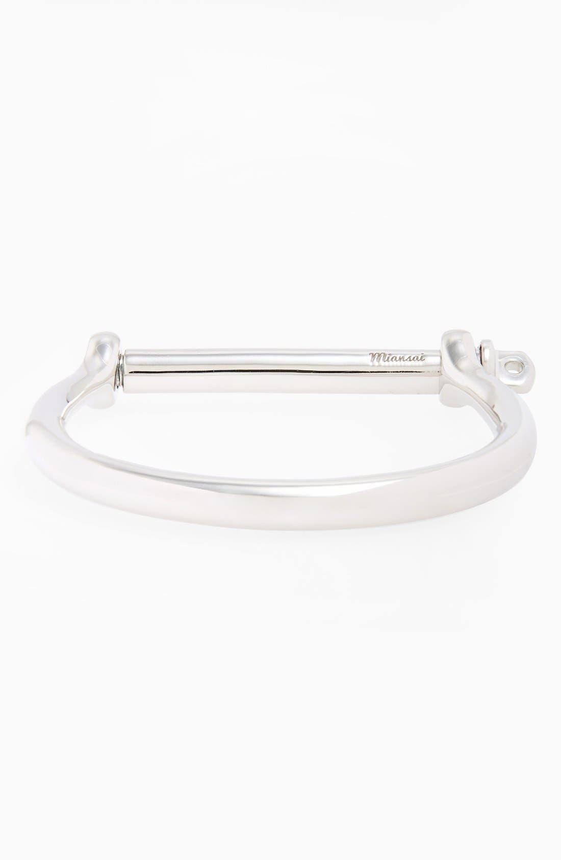 Miansai Sterling Silver Screw Cuff Bracelet