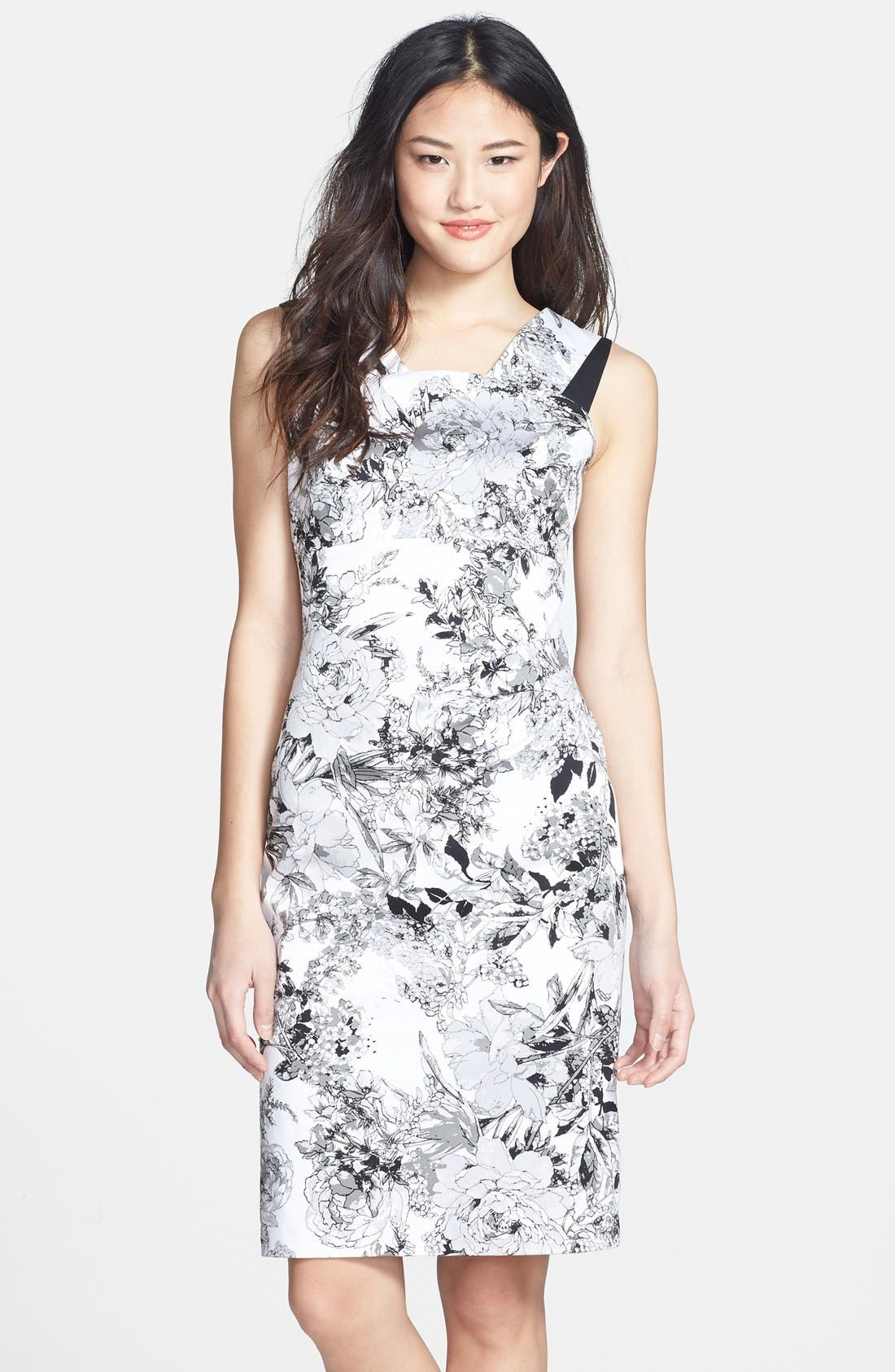 Alternate Image 1 Selected - Adrianna Papell Print Sheath Dress