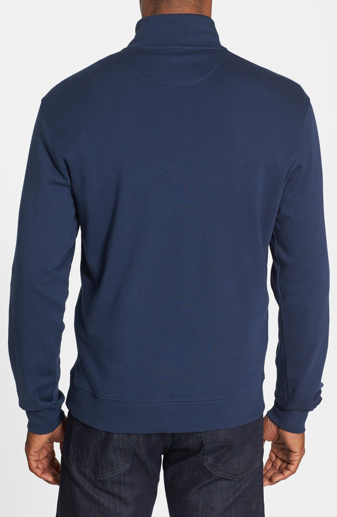 Alternate Image 2  - Vineyard Vines Quarter Zip Cotton Jersey Sweatshirt