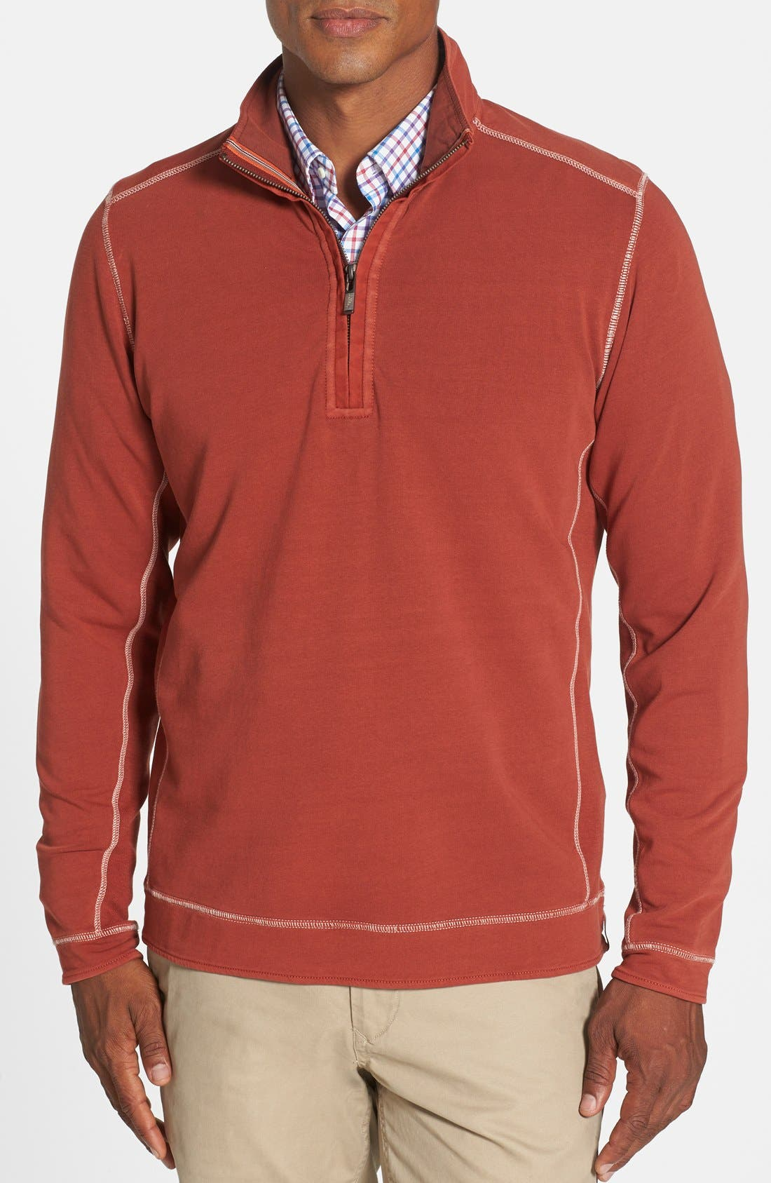 Alternate Image 1 Selected - Tommy Bahama Denim 'New Ben & Terry' Island Modern Fit Half Zip Pullover