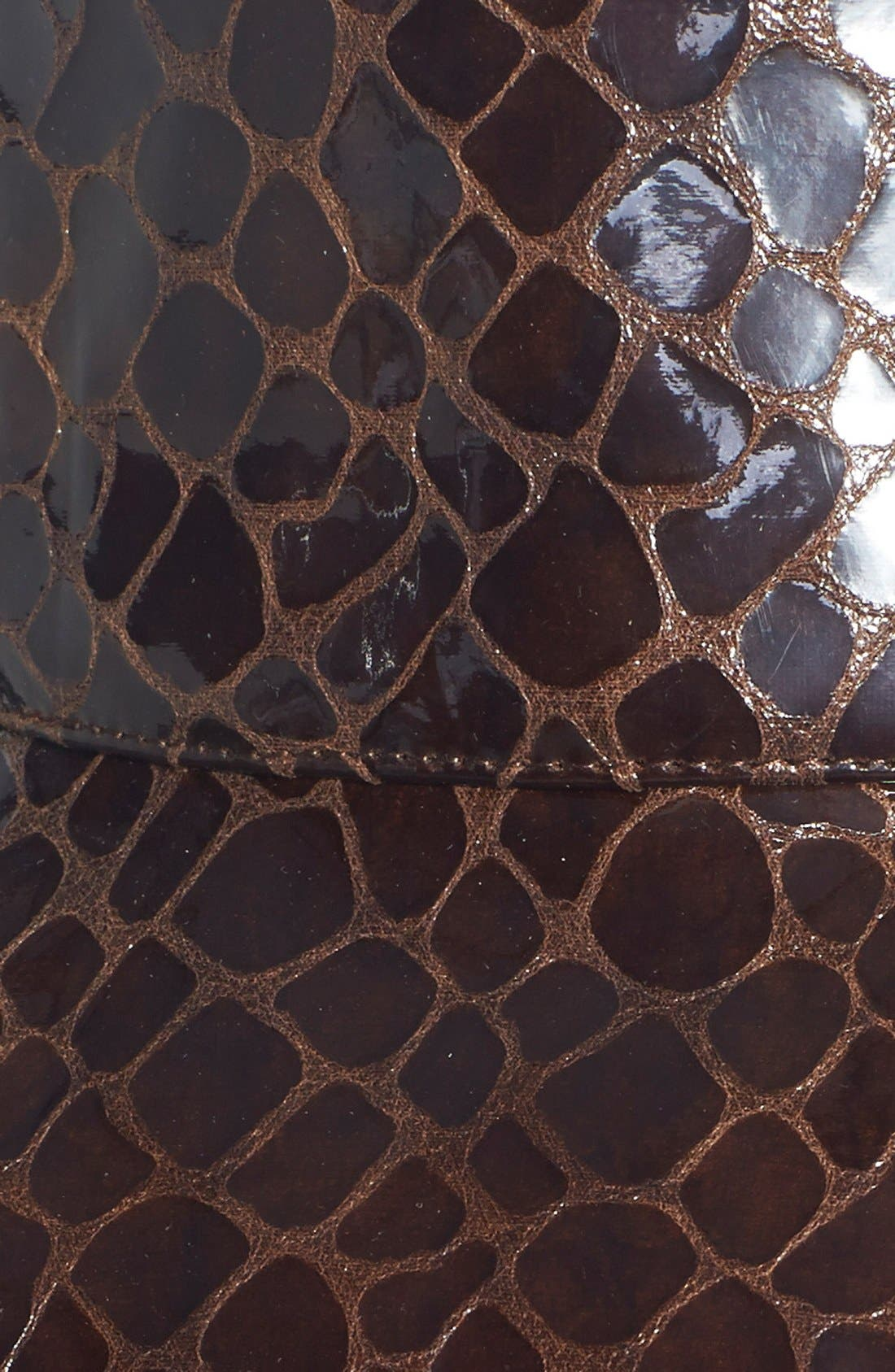 Alternate Image 2  - Eric Javits Croc Embossed Patent Rain Hat