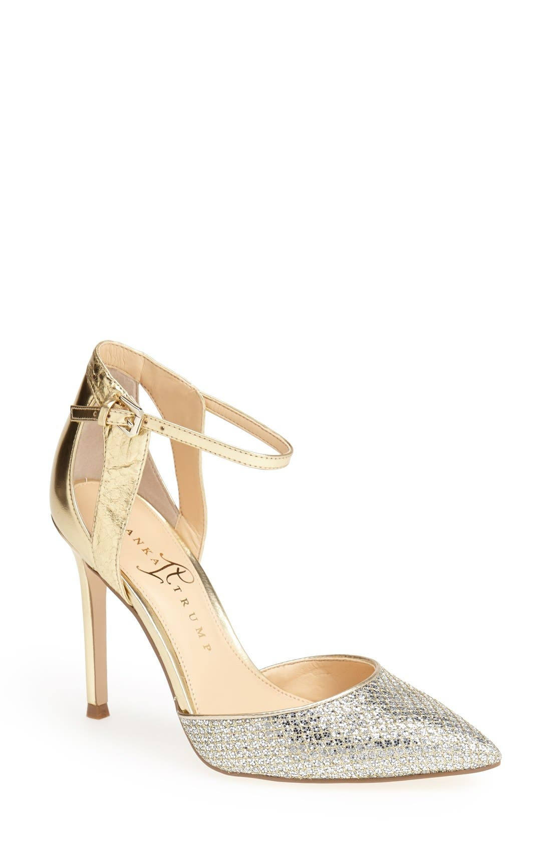 Alternate Image 1 Selected - Ivanka Trump 'Gees' Ankle Strap Pointed Toe Pump (Women)