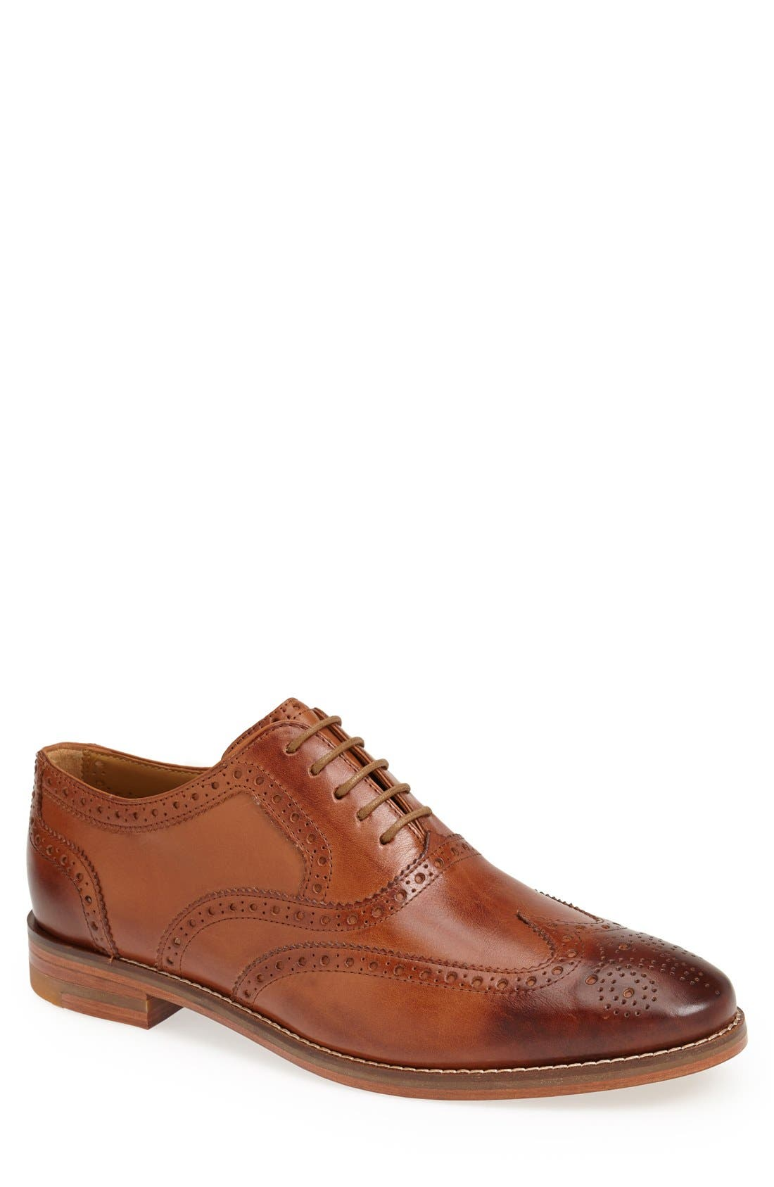 'Cambridge' Wingtip,                         Main,                         color, British Tan Leather