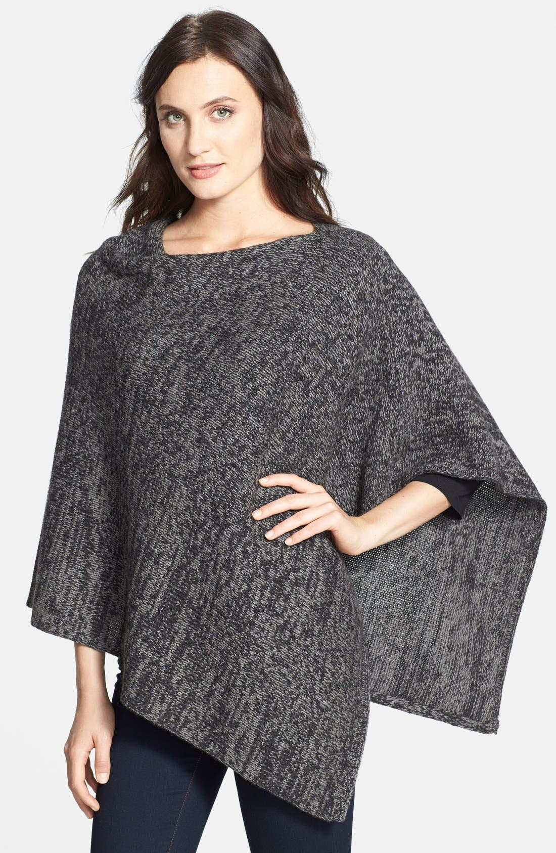 Main Image - Eileen Fisher Asymmetrical Yak & Merino Twist Poncho (Online Only)