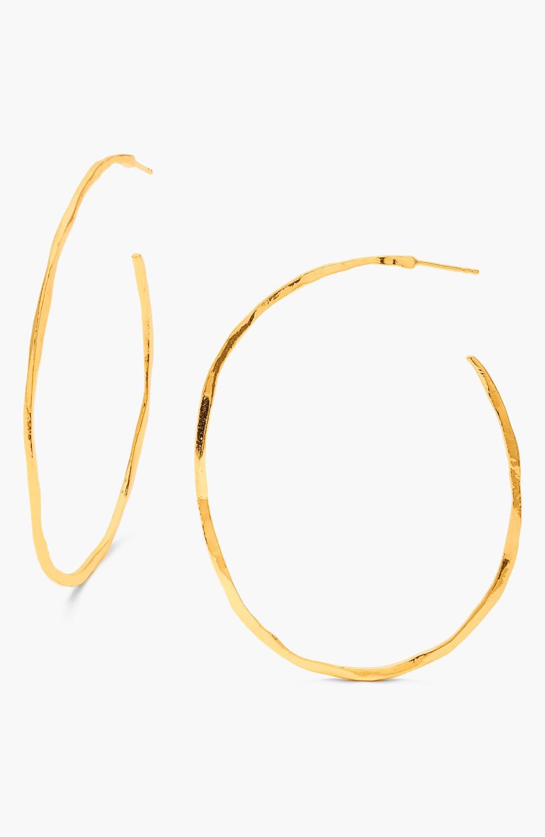 'Laurel' Hoop Earrings,                             Main thumbnail 1, color,                             Gold