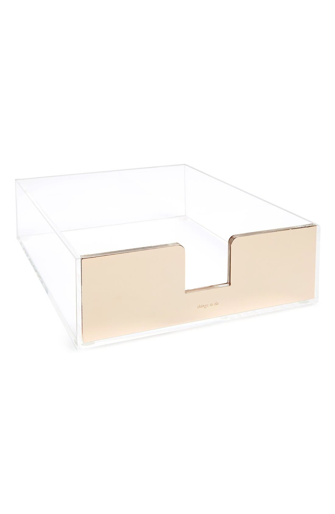 Alternate Image 1 Selected - kate spade new york acrylic letter tray
