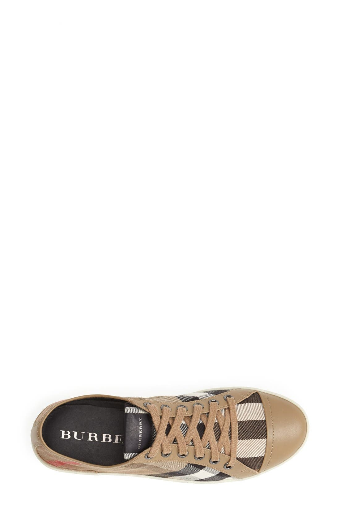 Alternate Image 3  - Burberry Check Print Sneaker (Women)