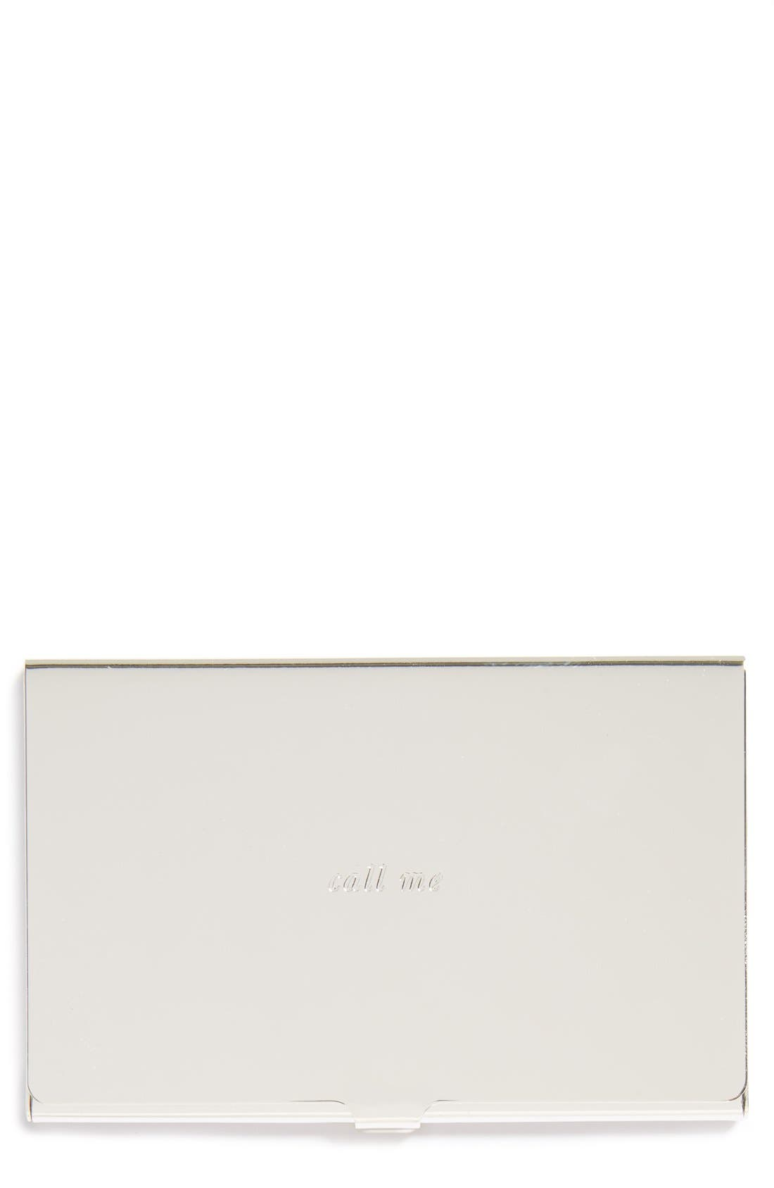 Alternate Image 1 Selected - kate spade new york 'call me' business card holder