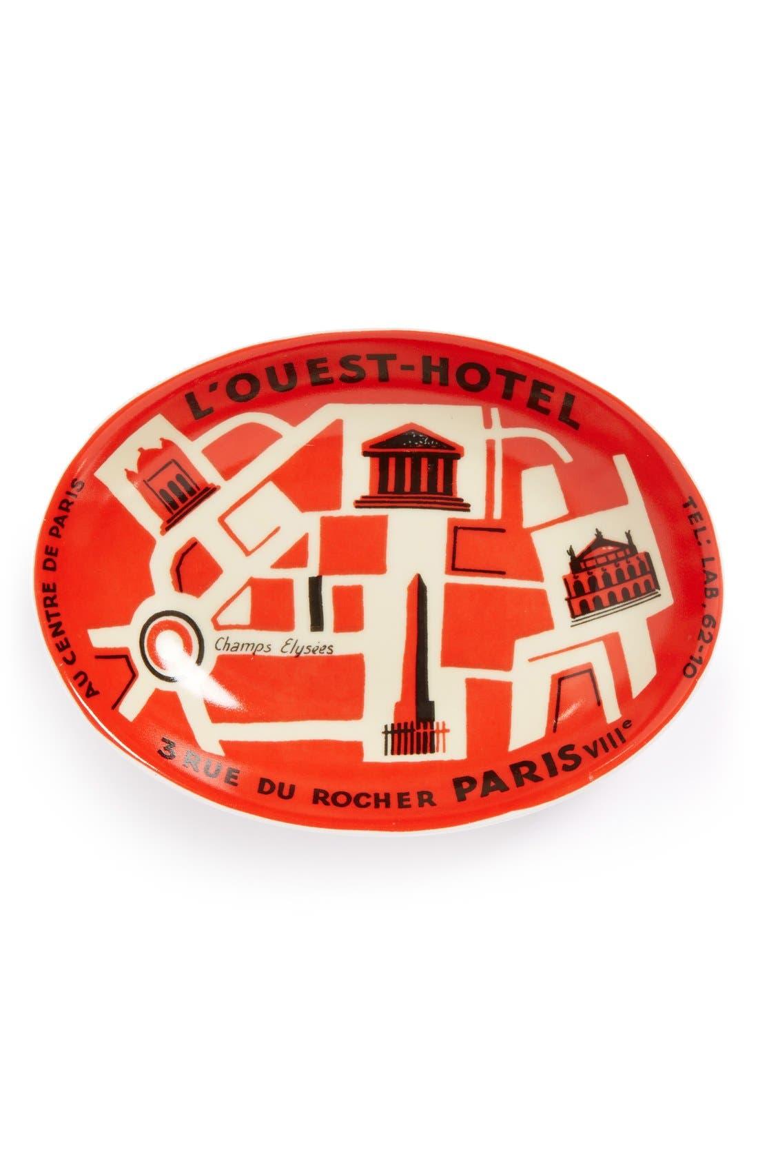 Alternate Image 1 Selected - Rosanna 'Voyage - L'Ouest Hotel' Porcelain Tray
