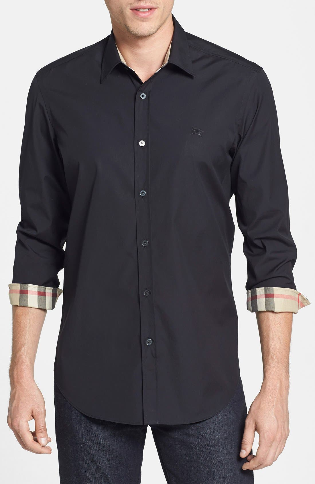 Alternate Image 1 Selected - Burberry Regular Fit Brit Poplin Sport Shirt