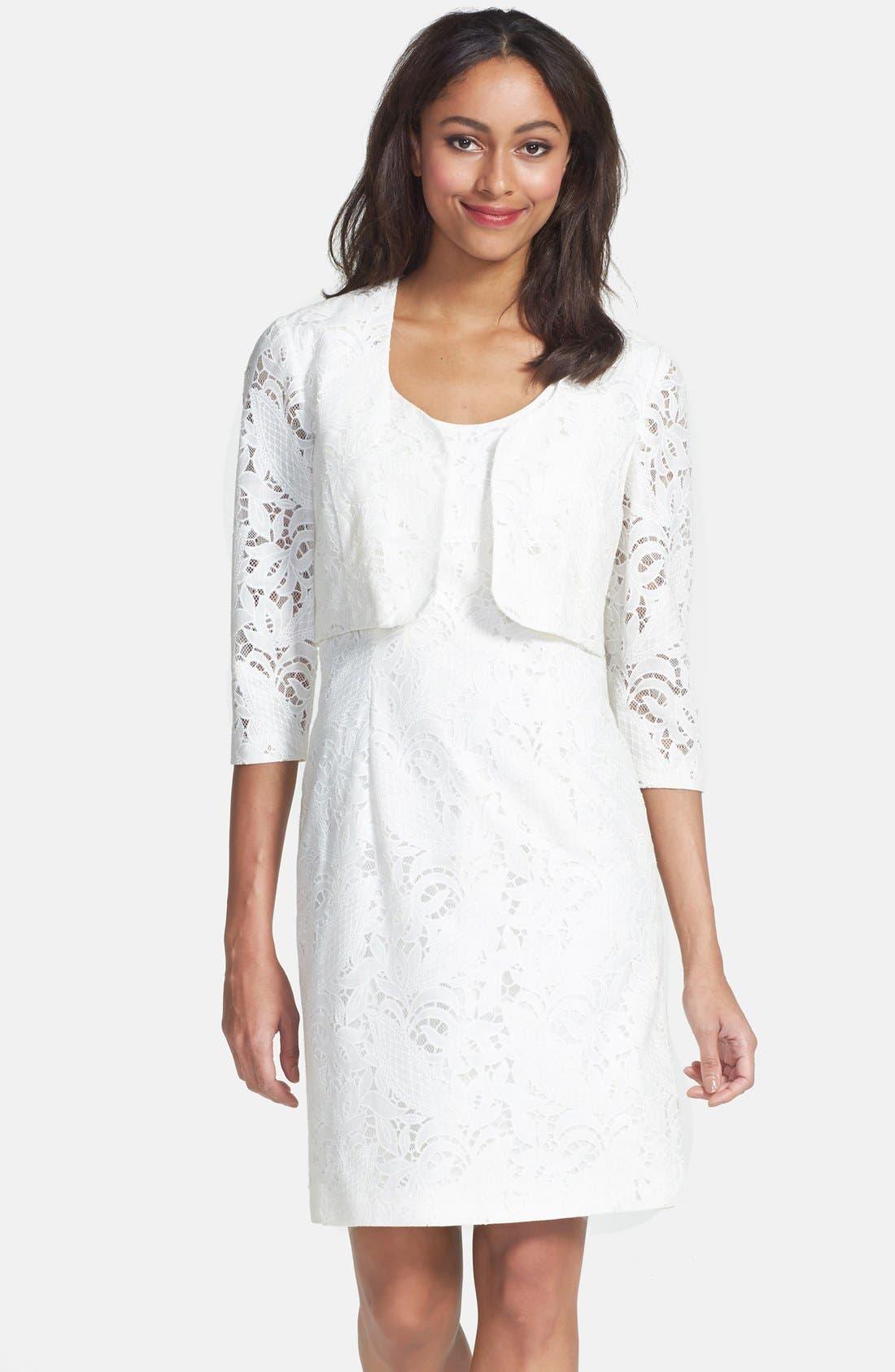 Alternate Image 1 Selected - Tahari Lace Dress & Jacket