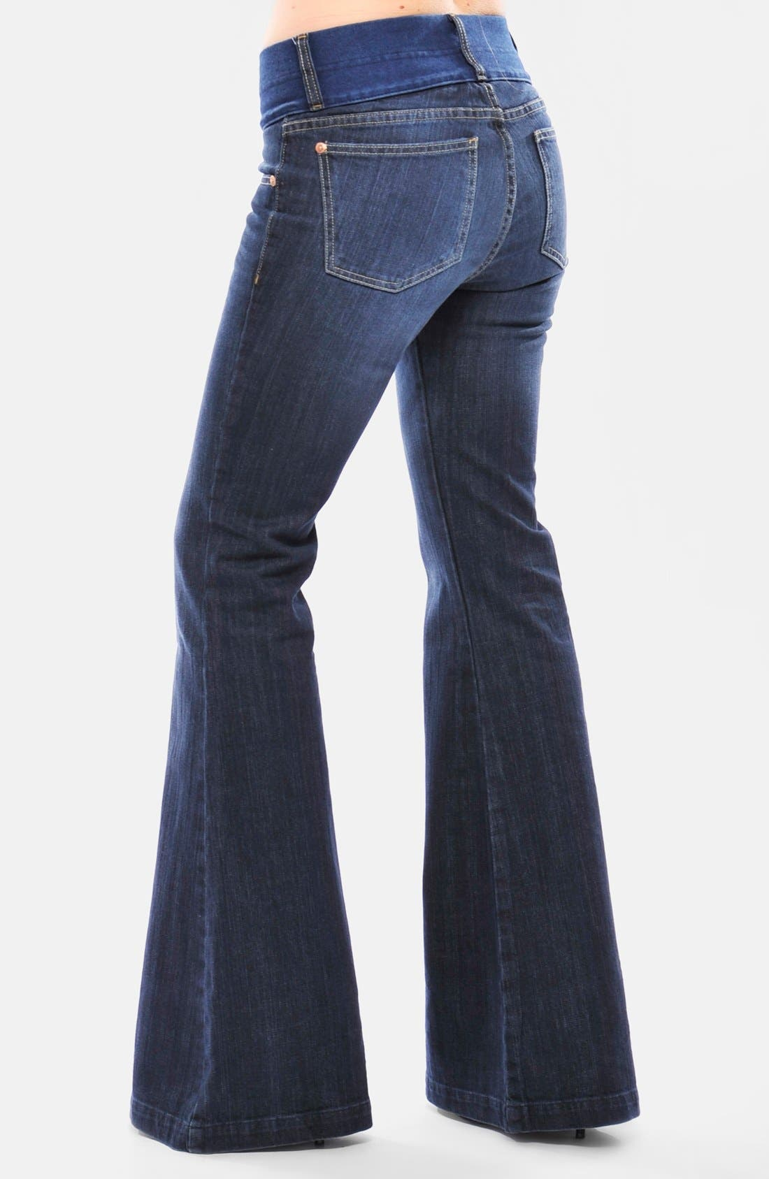 Alternate Image 2  - Olian Flare Maternity Jeans
